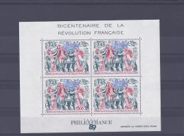 TAAF. Bicentenaire De La Révolution Française - Blocs-feuillets