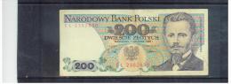POLEN  ,  POLAND  , 1.12.1988  ,  200  DWIESCIE  Zlotych   ,      Pick# 144 C     ,  Circ - Polen