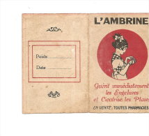 PUBLICITE L'AMBRINE CALENDRIER DE 1921 - Calendriers