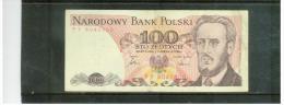 POLEN  ,  POLAND  ,  1.6.1986  , 100  STO  Zlotych   ,      Pick# 143 C - Polen