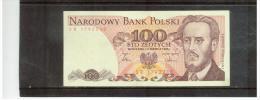 POLEN  ,  POLAND  ,   1.6.1986  ,  100  STO  Zlotych   ,       Pick# 143 C   ,  UNC - Poland