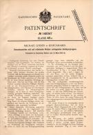 Original Patentschrift - M. Linder In Kriegshaber B. Augsburg , 1903 , Dreschmaschine Mit Walzen , Landwirtschaft !!! - Maschinen
