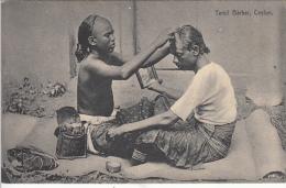 CEYLON  - Tamil Barber - Sri Lanka (Ceylon)