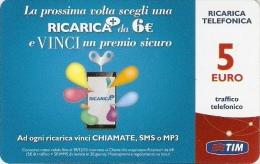 *ITALIA: TIM - RICARICA DA 6€* - Scheda Usata (RC+c-5-C) - [2] Handy-, Prepaid- Und Aufladkarten