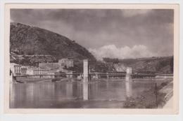 (RECTO / VERSO) TOURNON EN 1949 - N° 30157 - LA SOUS PREFECTURE ET LE CHATEAU - BEAU CACHET AU VERSO - Tournon