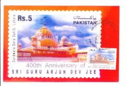 Max Card On Sikkism, 400th Anniversary Of Sri Guru Arjun Dev Jee, Gurdwara Dera Sahib, Lahore - Pakistan