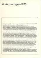 Relatiefolder P.T.T. - Kinderpostzegels 1975 - FDC