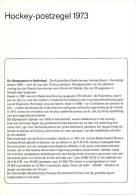 Relatiefolder P.T.T. - Hockey-postzegel 1973 - FDC