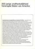 Relatiefolder P.T.T. - 200 Jaar Verenigde Staten Van Amerika 1976 - FDC