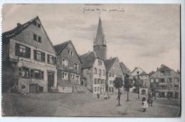 "Cpa "" OTTWEILER - RATHAUSPLATZ "" RARE - 1922 - Kreis Neunkirchen"