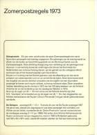 Relatiefolder P.T.T. - Zomerpostzegels 1973 (lees!) - FDC