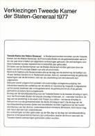 Relatiefolder P.T.T. - Verkiezingen Tweede Kamer Der Staten-Generaal 1977 - FDC