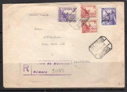 R-cover Palma De Mallorca 1949 To Barcelona (s153) - 1931-50 Briefe U. Dokumente