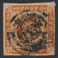 Denmark Danemark Danmark 1854: 4sk Red-brown Imperf, Fine Used (DCDK00009) - Used Stamps