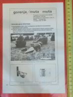 MUTA - GORENJE  (Slovenia) TRACTOR Traktor Tracteur Motocultivator, Cultivator, Motoculteur & Agricultura - Tractors
