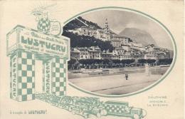 RHONE ALPES - 38 - ISERE - DAUPHINE - GRENOBLE - Le Saint Eynard - Carte Publicité Pâtes LUSTUCRU - Publicité