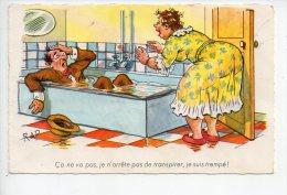 REF 123 B : CPA Illustrateur RAP Ca Ne Va Pas Je N'arrete Pas De Transpirer... - Comicfiguren