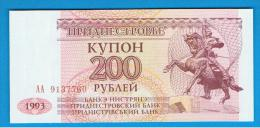 TRANSNIESTRIA -  200 Rublos 1993 SC   P-21 - Andere