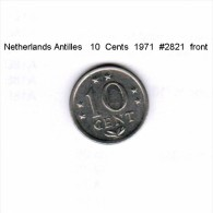 NETHERLAND ANTILLES    10  CENTS  1971  (KM # 10) - Netherland Antilles