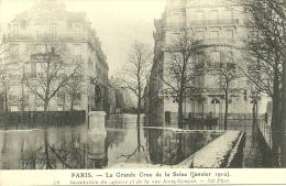PARIS _ - Inondation Du Square Et De La Rue Jean-Goujon - Grande Crue De La Seine (janvier 1910)         -- ND 26 - Arrondissement: 08
