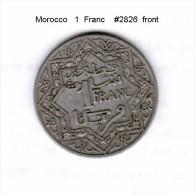 MOROCCO    1  FRANC    (Y # 36.2) - Marokko