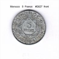 MOROCCO    5  FRANCS    (Y # 48) - Morocco