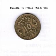 MOROCCO   10  FRANCS    (Y # 49) - Morocco