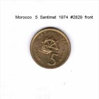 MOROCCO   5  SANTIMAT  1974  (Y # 59) - Marokko