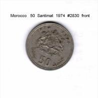 MOROCCO   50  SANTIMAT  1974  (Y # 62) - Morocco