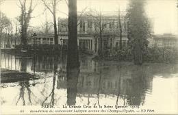 PARIS _ - Inondation Du Restaurant Ledoyen Avenue Des  Champs- - Grande Crue De La Seine (janvier 1910)         -- ND 66 - Arrondissement: 08