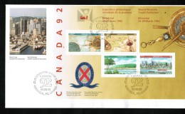 """CANADA, 1992, #1407a, CAPEX 92, CANADA 92, OFDC """" OVERSIZE""""   270 Cm - 1991-2000"""