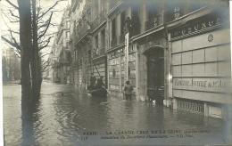 PARIS 8 -  Inondation Du Boulevard Haussmann - - Grande Crue De La Seine (janvier 1910)         -- ND 156 - Arrondissement: 08
