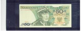 POLEN  ,  POLAND  ,   1.12.1988  ,   50  Piecdziesiat  Zlotych   ,      Pick# 142 C   ,  UNC - Polen