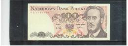 POLEN  ,  POLAND  ,  1.12.1988   ,    100  Sto  Zlotych   ,       Pick# 143 C    ,    UNC - Polen