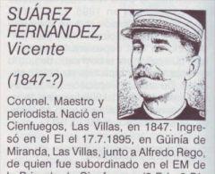 BE12 CUBA INDEPENDENCE WAR MAMBI CORONEL VICENTE SUAREZ - Autographs