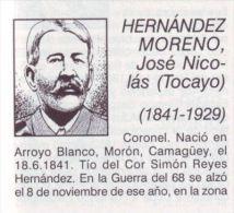 BE16 CUBA INDEPENDENCE WAR CORONEL NICOLAS HERNANDEZ - Autographs