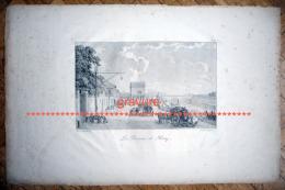 PARIS 16 . Gravure Ancienne La Barrière De Passy .Engelmann , Bacler D´Albe. - Autres Collections