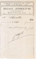 1915 FABRIQUE D´HUILE DE NOIX FROMAGES & DE MOUTARDE CAFES REMY JOSEPH 37 RUE DU PONT-DU-CHER SAINT-AMAND CHER - 1900 – 1949