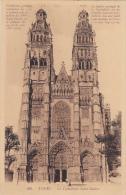 Carte Postale Ancienne,37,indre Et Loire,TOURS,EN 1937,CATHEDRALE,EGLISE,CATHOLIQUE ROMAIN,1170-1547,gothique