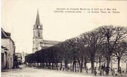 YZEURES -La Gde Place -Souvenir Du Congrès Marial (1913)  (61267) - Other Municipalities