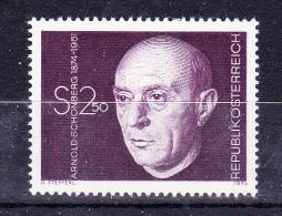 AUSTRIA   1974 , Arnold Schonberg - Componist , Y&T  #  1292,  Cv   0.90  E , **  M N H , V V F - 1971-80 Nuovi & Linguelle