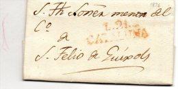 L. 21/CATALUNA-avec Correspondance De LA BISBAL-1826. - Spain
