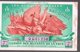 """Loterie Nationale . """"Les Gueules Cassées """" - Billets De Loterie"""