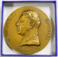 Médaille  Jean-Claude Roussel 1922-1972  Homme De Sciences Et Découvertes Pharmacie Bronze Par R.Cordin  285gr Diam8.5cm - Autres