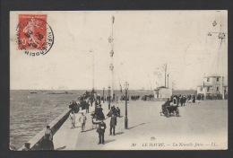 DF / 76 SEINE MARITIME / LE HAVRE / LA NOUVELLE JETÉE / ANIMÉE / CIRCULEE EN 1908 - Harbour