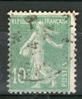 N° 159° Belle Impression Défectueuse Sur Vert-jaune_08-1922 - 1906-38 Semeuse Camée