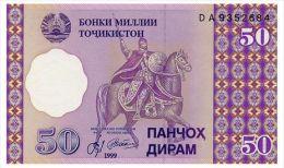 TADJIKISTAN 50 DIRAMS 1999 Pick 13 Unc - Tajikistan