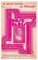 Partition - Rose Paris De Battaille Henri, Henri Varna Et Jean Boyer - 1929 - Spartiti