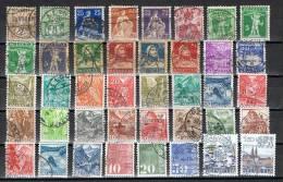 Verzameling Zwitserland Freimarken (o) - See Scans - Briefmarken