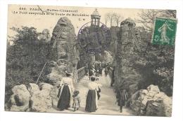 Paris 19ème Arr (75) : MP De Nourrices Franchissant Le Pont Suspendu Des Buttes Chaumont En 1906 (animé). - Arrondissement: 19